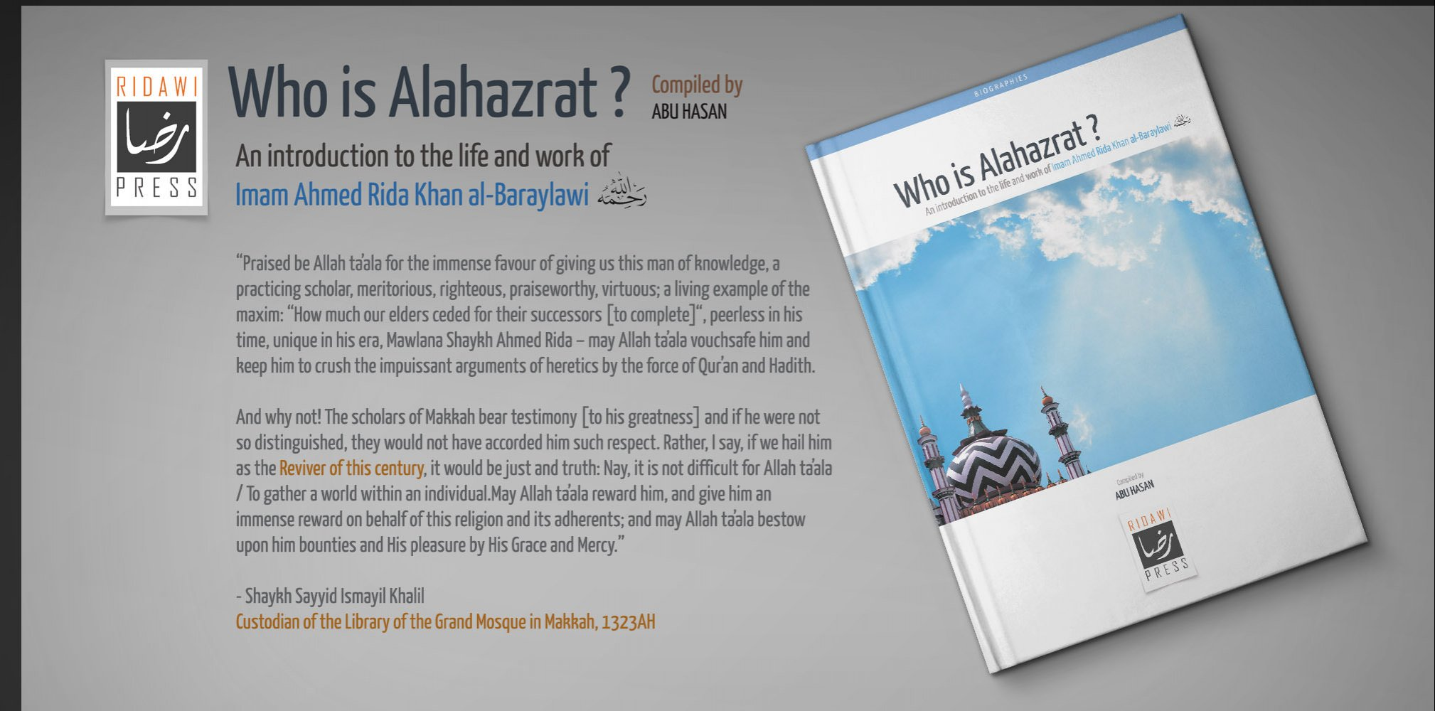 Book Release: Who is Alahazrat?